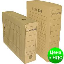 Короб архивный картонный 80 мм Economix, белый E32701-14