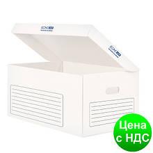 Контейнер архивный картонный Economix, белый E32703-14