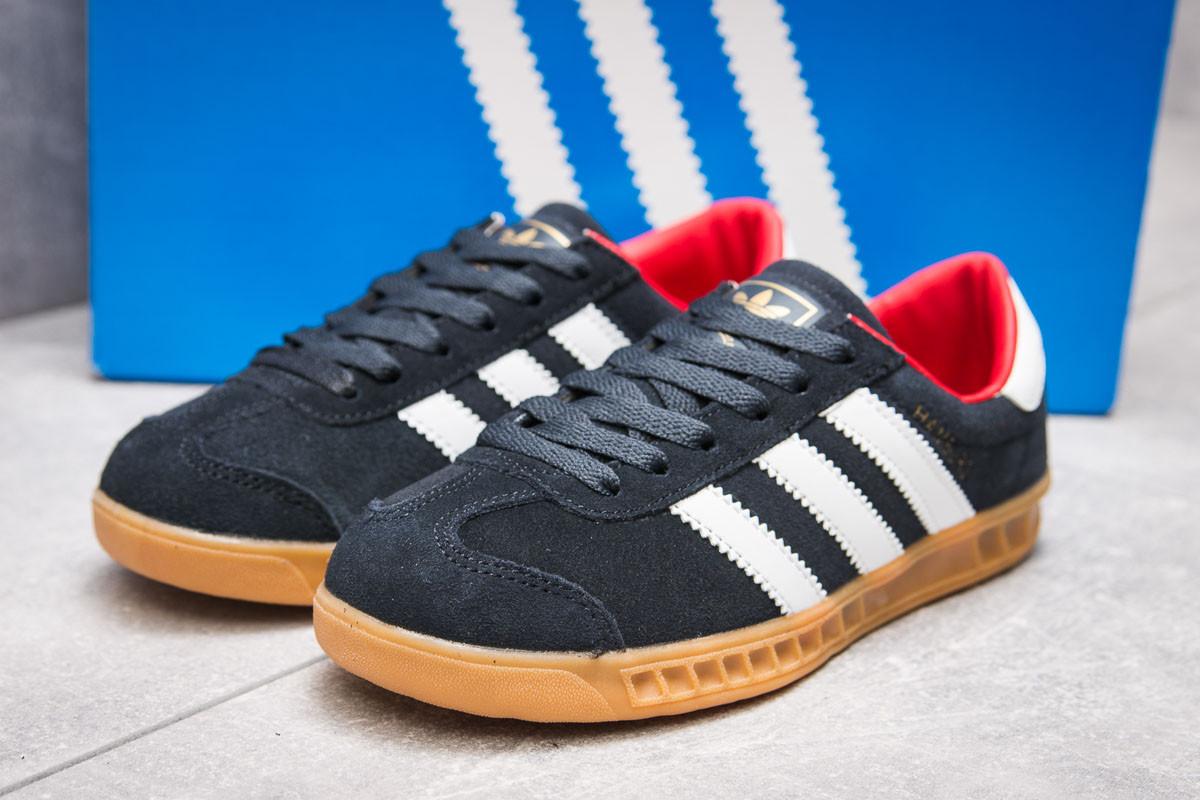 Кроссовки женские 13852, Adidas Hamburg, темно-синие ( 36 37  )(реплика)