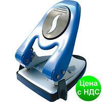 Дырокол на 60 листов, Economix, металлический корпус, с линейкой, синий  E40119