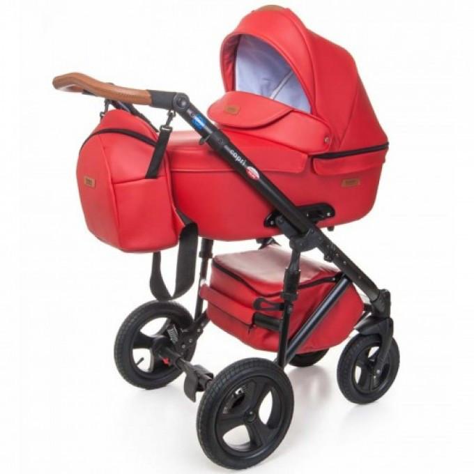 Детская коляска 2 в 1 Broco Capri эко кожа