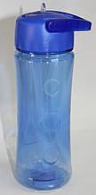 Бутылка пластиковая для напитков, синяя, 500 мл