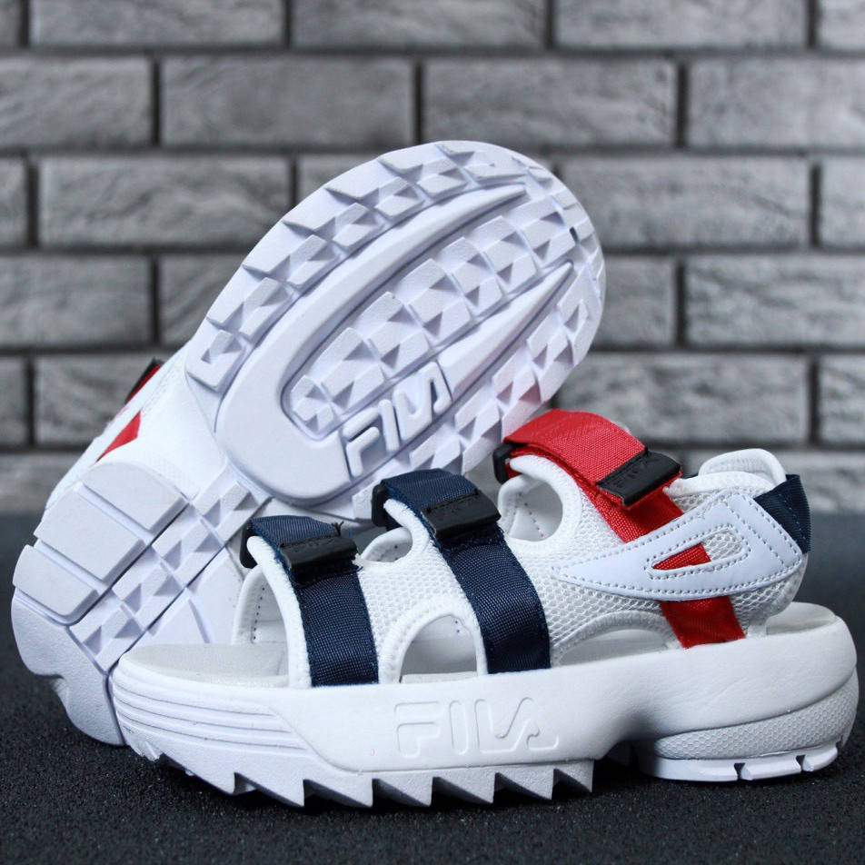 Мужские сандалии Fila Sandals White Black Red      ⠀⠀⠀⠀⠀⠀⠀⠀⠀⠀⠀⠀⠀⠀⠀⠀⠀⠀(реплика)