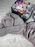 Нижнее бельё лифчики 4 i 8 чашка D размер 85-90 классный с кружевом бежевый-корректирующий-серый, фото 5