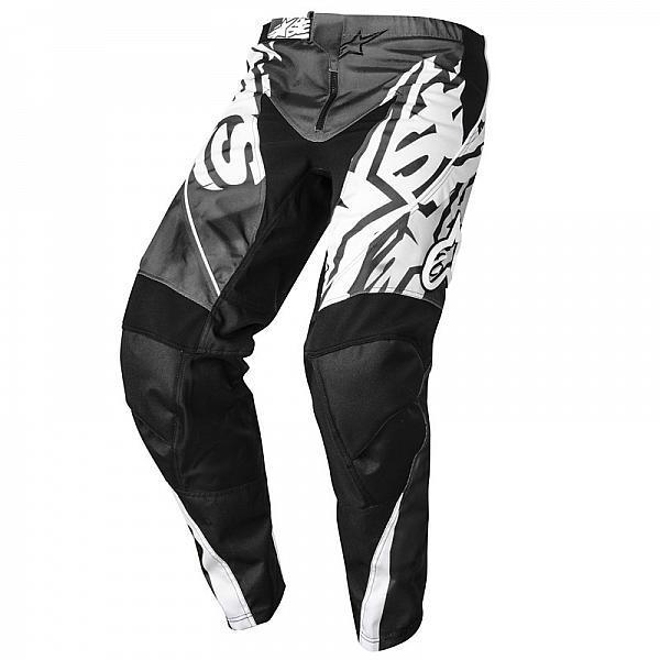 "Брюки Alpinestars Racer текстиль черно-белые ""XS"" (28)"
