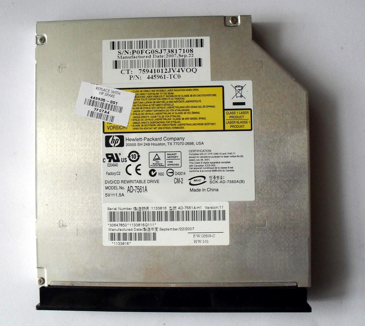 OPTIARC DVD RW AD-7561A ATA DRIVER UPDATE