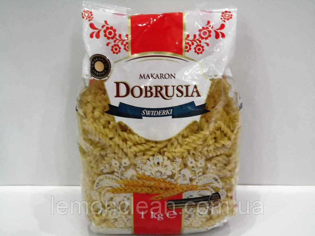 Макароны Dobrusia Swiderki спиральки 1кг