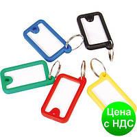 Брелок д/ключей пластиковый 45*26мм, ассорти E41645