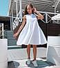 Платье мини свободное лен