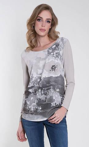 Женская блуза Odetta Zaps светло-серого цвета, коллекция осень-зима 2018-2019