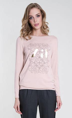 Женская блуза Rina Zaps розового цвета, коллекция осень-зима 2018-2019