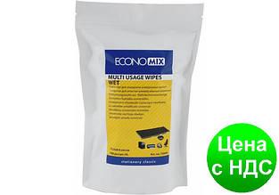Салфетки для очистки универсальные Economix, влажные, 100 шт, сменный блок E72644