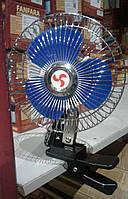 Вентилятор автомобільний 24V 6 дюймів на прищіпці, спереду - метал корпус, Китай