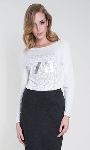 Женская блуза Rina Zaps молочного цвета, коллекция осень-зима 2018-2019
