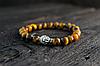 Браслет из тигрового глаза с золотистым Буддой