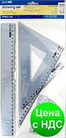 Набор линеек (лин 30см, тр24см, тр16см, транс) E81305