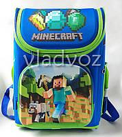 Школьный каркасный рюкзак для мальчиков Minecraft майнкрафт синий