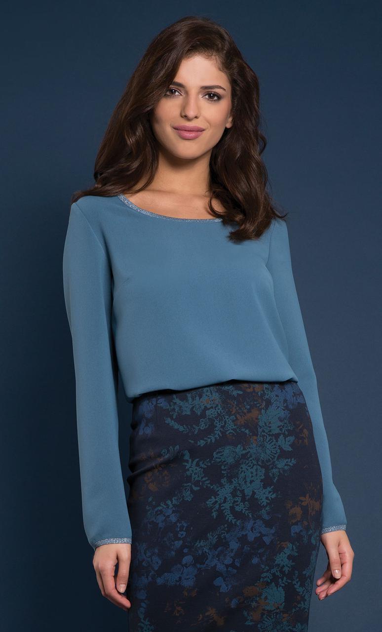 Женская блуза Rossane Zaps изумрудного цвета, размеры 44