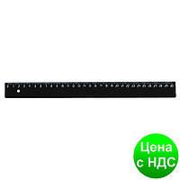 Линейка 30см, черная, пластикова E81319