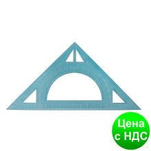 Треугольник равнобедренный 20 см, прозрачный плстик, транспортир E81325