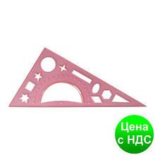 Треугольник 20 см, прозрачный пластик (транспортир и геометр фигуры) E81326