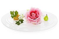 Блюдо фарфоровое овальное 40см, цвет - белый