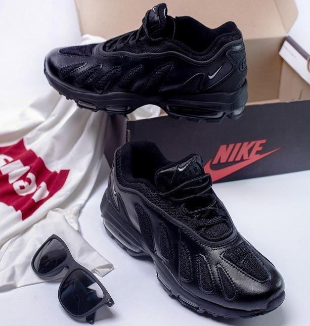 33497ecb Кроссовки в стиле Nike Air Max 96 Triple Black мужские - Интернет-магазин  «Reverie