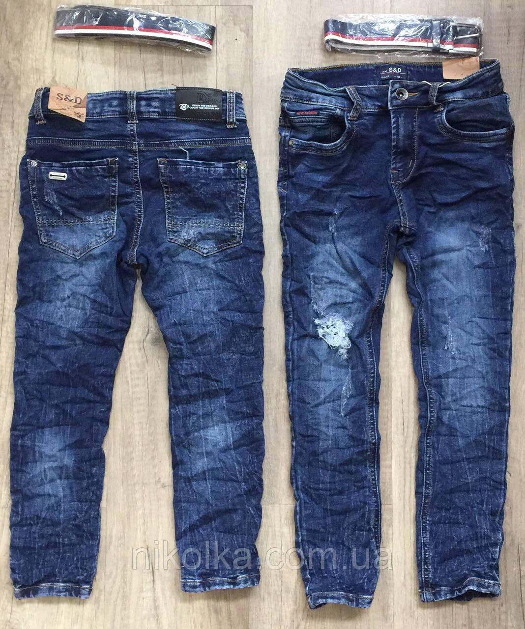 Джинсовые брюки для мальчиков  оптом,S&D ,140-170 рр., арт. DT-1012
