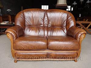 Шкіряний двохмісний диван