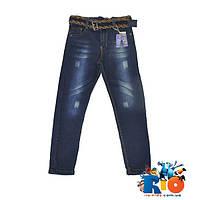 """Детские джинсы """"TATI"""" с плетенным ремешком для мальчиков 9-12 лет ( 4 ед. в упаковке)"""