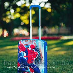 Набор чемоданы + ранец детские дорожные качество люкс кодовым замком 52 см Человек паук синий IMG2561-69-SM