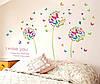 Наклейка виниловая Одуванчики с бабочками