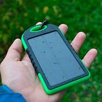 Портативный внешний Power Bank повер банк Solar 20000 mah Солар +Фонарик! черный пауэр аккумулятор зарядка