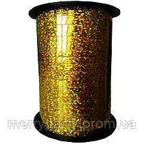 0,5 см (150 м ) Лента для шаров золото голограмма