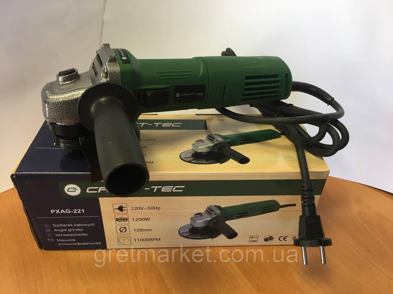 Угловая шлифмашина Craft-tec PXAG-221 125мм