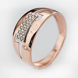 Золотое кольцо с фианитами. КП1743
