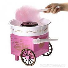 Мобильный аппарат домашний на колесах для сахарной ваты большой Candy Maker
