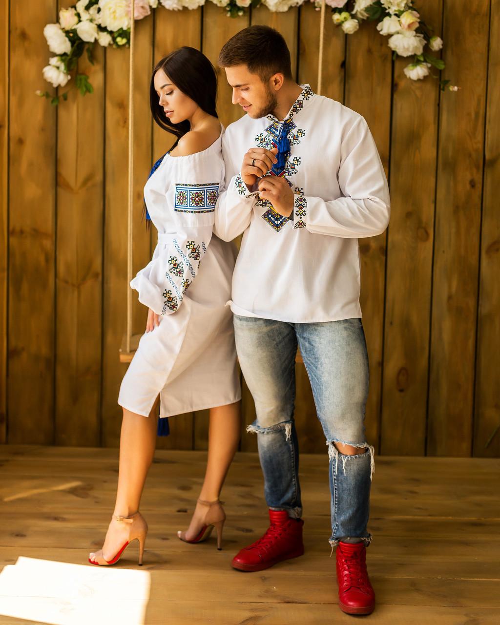 52f28cb05504 Вышиванки для пары платье и рубашка - Вишиванки Merezhka в Хмельницком