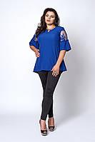 Красивая женская блузка Натали больших размеров цвета электрик