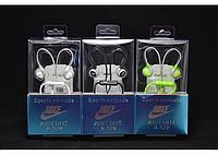 Наушники вакуумные Nike A-520 с микрофоном, гарнитура Nike, силиконовые наушники с микрофоном, наушники hands free