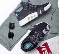 Кроссовки в стиле Adidas Eqt Basket ADV Core Black / Sub Green мужские