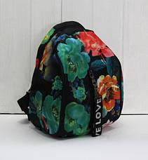 Красивый модный и практичный рюкзак в цветки и банты, фото 3
