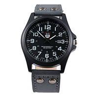 Мужские военные часы черный корпус и черный ремешок