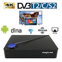 Приставка Smart Tv Box Magicsee C300 Т2+спутниковое ТВ+Смарт