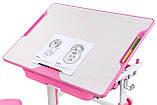 Зростаюча дитяча парта зі стільчиком Cubby Lupin Pink, фото 3