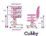 Зростаюча дитяча парта зі стільчиком Cubby Lupin Pink, фото 9