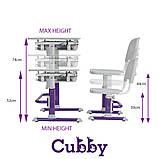 Зростаюча дитяча парта зі стільчиком Cubby Lupin Purple, фото 9