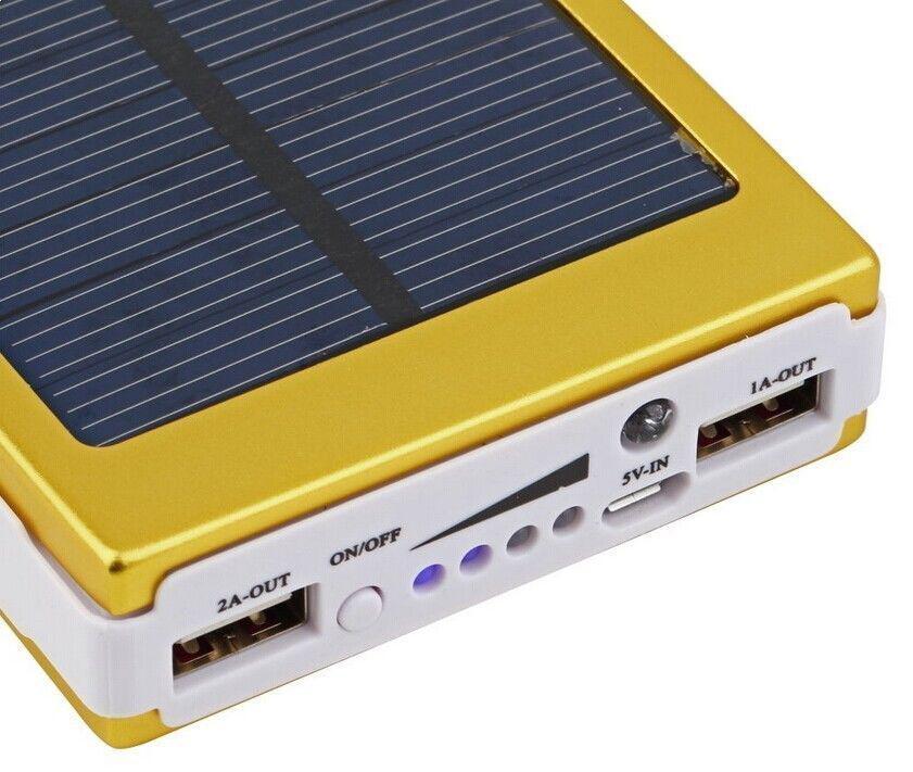 Внешний аккумулятор 40000MAH c LED Power bank SOLAR BIG - Золотой!Акция