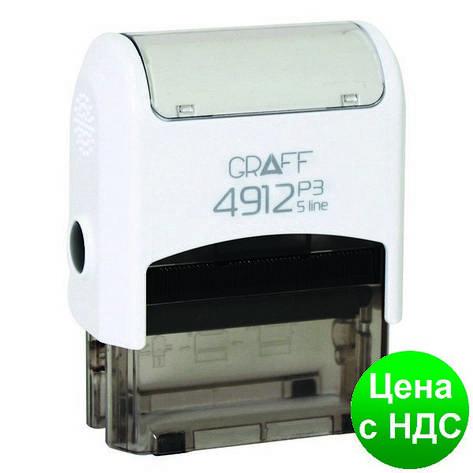 """Оснастка автомат., GRAFF 4912 P3 """"GLOSSY"""" пластиковый, для штампа 47х18 мм, белая GRF42105-14, фото 2"""