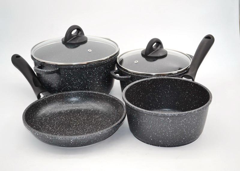 Набор посуды из 6 предметов Benson BN-312, керамическое покрытие!